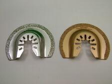 Multi Tool Tile Renovation Set 2x segment blades 65mm 1 each diamond & TC coated