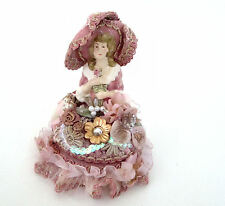 Katherine's Collection Victorian Half Doll in Hat Decorative Ceramic Trinket Box