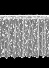 "Heritage Lace White BRISTOL GARDEN Window Tier 24""L - Birds, Vines"