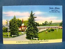 Postcard OH St Clairsville Twin Pines Motel