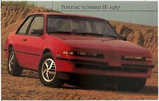 1987 Pontiac Sunbird SE Automobile Advertising Postcard
