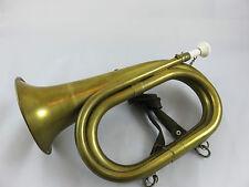 Jagthorn Horn Trompete Posthorn aus Messing Russische schrift mit riemen