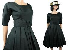 50s Cocktail Dress Sz S Suzy Perette Designer Black Bombshell Party Prom Gown