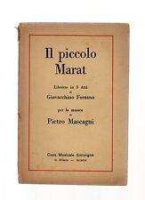 il piccolo marat - pietro mascagni -  - libretto operistico del 1921