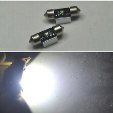2x Bright 31mm CREE LED Bulb For Car Interior Dome map door Lights DE3175 DE3022