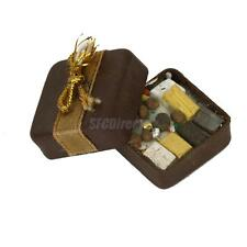 1/12 Dollhouse Miniature Food Square Chocolate Candy Box w/ Assorted Chocolates