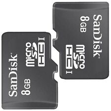 2 Pack SanDisk Class4 8GB MicroSD Micro SDHC TF Flash Memory Card For Cell Phone
