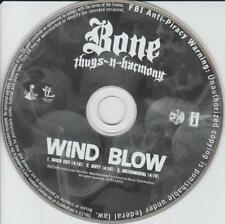 Bone Thugs-n-Harmony: Wind Blow PROMO MUSIC AUDIO CD Edit Dirty Instrumental 3tk