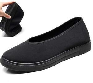 Men Flat Chinese Kung Fu Shoes Martial Art Ninja Cotton Sole Casual Shoe Comfort