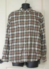 Woolrich Long Sleeve Shirt Sz L 100% Cotton Buckwheat Heather Plaid