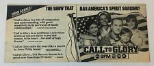 1984 two part ABC TV ad ~ CALL TO GLORY Craig T Nelson, Elisabeth Shue
