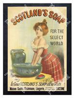Historic Scotlands Soap 1893 Advertising Postcard