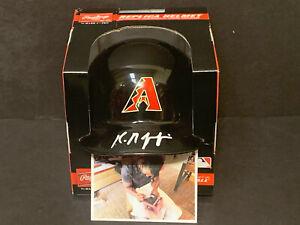 Kristian Robinson Arizona Diamondbacks Autographed Signed Mini Helmet .