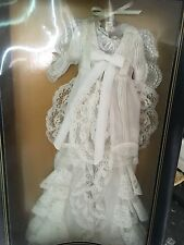 "FRANKLIN MINT TITANIC Rose 16""Vinyl Doll White NIGHT GOWN Ensemble NRFB NO COA"