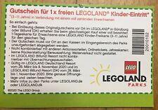 1x freier Legoland Kinder-Eintritt Günzburg oder Billund (DK) 28.3 - 1.11.2020