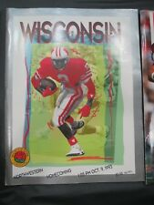 1993 UNIVERSITY OF WISCONSIN BADGERS FOOTBALL PROGRAM VS NORTHWESTERN HOMECOMING