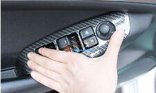 for Accessories Mazda 3 Axela Carbon fiber Door Window Lift Cover 2014-2018 LHD