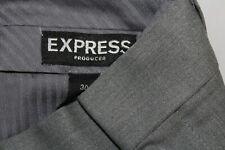 EXPRESS Men's 30 X 32 Gray Cotton Spandex Flat Front PRODUCER Pants