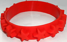 Red Rubber Silicone Stars Bracelet Wristband Bangle Mens Womens Ladies Jewellery
