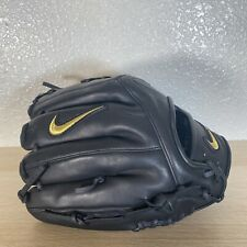 "Nike Alpha Huarache Elite Baseball Outfield Glove 11.5"" IN Black With Gold Trim"