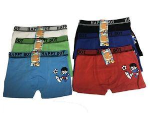 New Lot 6 Happy Boy Cotton Boxer Briefs #HF670