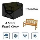 190cm Waterproof Furniture Cover 4 Seater Bench Cube Seat Covers Outdoor Garden