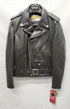 SCHOTT NYC 118 Classic Perfecto Black Leather Motorcycle Jacket Size 36