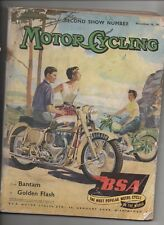 MOTOR CYCLING NOVEMBER 18TH 1954 - SECOND SHOW NUMBER