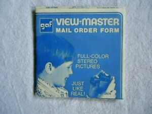 GAF VIEW MASTER Mail Order Form with Listings Of All Reel Packets D674