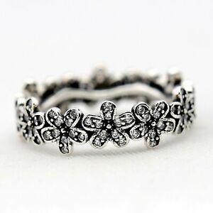 Pandora Genuine Dazzling Daisy Band S925 SILVER Ring With Free Bag 190934CZ UK