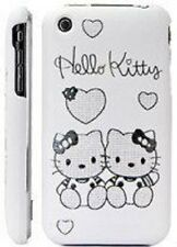 Katze Kitty Tasche Weiß Schutz Hülle Cover Schale Katzen Apple iPhone 3 3G 3GS