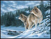 Winter Wolf  - DIY Chart Counted Cross Stitch Patterns Needlework embroidery