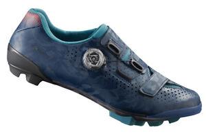 Shimano RX8 Women's Carbon Gravel Boa MTB Cycling Shoes Navy RX800 41 (US 8.5)
