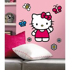 WORLD OF HELLO KITTY GiaNT WALL DECALS New Girls Bedroom Stickers Decorations