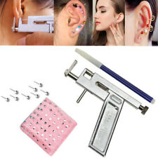 Pro Steel Ear Nose Navel Body Piercing Gun Kit Tool Set with Pack of 98 Studs US