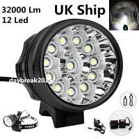 UK Ship 32000Lm 12x LED Cree XML T6 Bicycle Bike Light Cycling Headlight Lamp