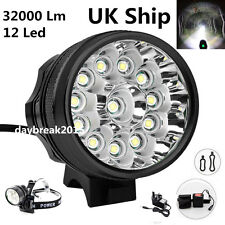 UK Ship 32000Lm 12x LED Cree XML T6 Bicycle Bike Light Cycling Headlight Lamp
