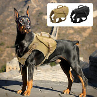 Militär Taktisches Hundegeschirr Zuggeschirr Verstellbar Molle Weste Für Pitbull