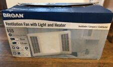 Broan-Nutone Ventilation Fan with Light & Heater #655, 70 CFM, White, never used