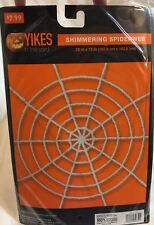 """Shimmering Spiderweb White 72""""x 72"""" 6 ft - Halloween Decor Great For Party - NIP"""