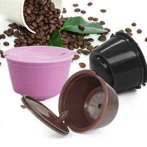 Plastic Coffee Capsule Filter Cup Refillable Reusable For Dolce Gusto Nescafe D