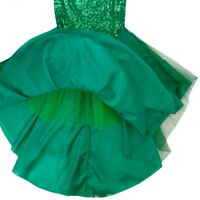 Women Fishtail Mermaid Tail Skirts Party Costume Leather Bodycon Green Dress