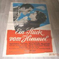 A1 Filmplakat EIN STÜCK VOM HIMMEL ,TONI SAILER,INGRID ANDREE