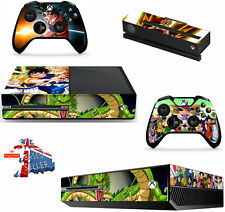 DRAGON BALL Z XBOX ONE *TEXTURED VINYL ! * PROTECTIVE SKIN DECAL WRAP STICKERS