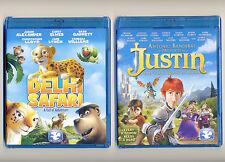 Delhi Safari & Justin, 2 animated PG family Dove movies, new Blu-rays & DVDs lot