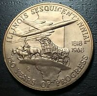 Illinois 150th Sesquicentennial Medal --  MAKE US AN OFFER!  #O4228