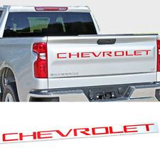 Red CHEVROLET Logo Car Rear Tailgate Emblem for Silverado 2500 3500 1500 HD