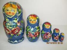 Vintage 5 Wood Nesting Dolls Handmade