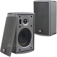 """2 Pack 4"""" Indoor Outdoor Speakers 2 Way Multi Purpose Weather Resistant MTX 50W"""