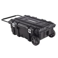 Husky Portable Tool Box 35 in. 25 gal. Capacity Water Resistant Metal Latches